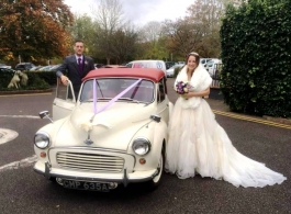 Morris Minor for weddings in Canterbury